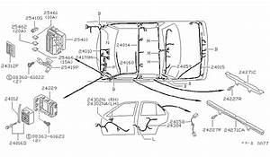 1992 Nissan Sentra Wiring Parts Listing