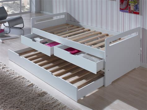 lit gigogne avec bureau lit gigogne en bois 90x190 cm avec sommiers à lattes et 2