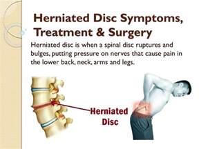 Herniated Disc Symptoms Treatment