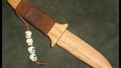 leather handle wrap   oak dagger style letter