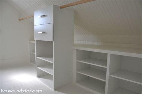 slanted ceiling closet closets