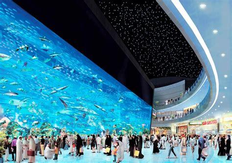 dubai mall aquarium shopping underwater largest zoo designrulz