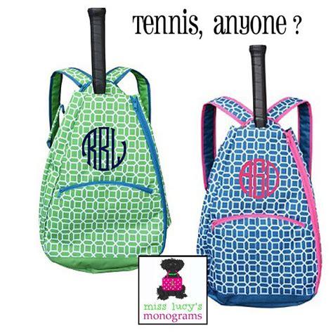 monogrammed tennis bag backpack tennis