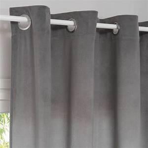 Rideau A Oeillet : rideau illets gris 140x250 adela maisons du monde ~ Dallasstarsshop.com Idées de Décoration