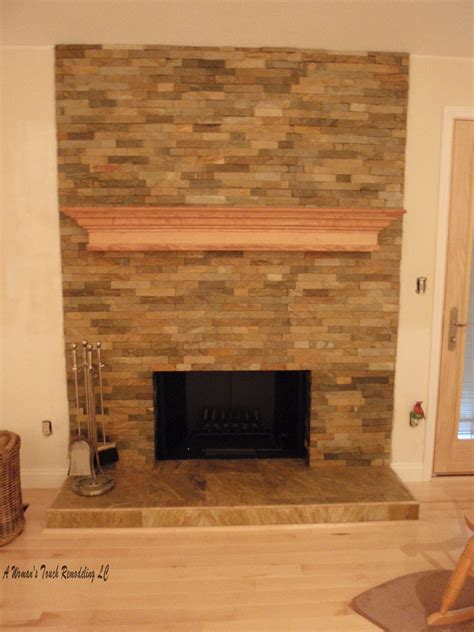 Stone Fireplaces Slate And Search On Pinterest