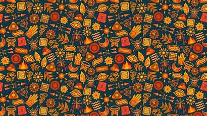 Pattern Ethnic Symbols 4k Background Magic Wallpapers