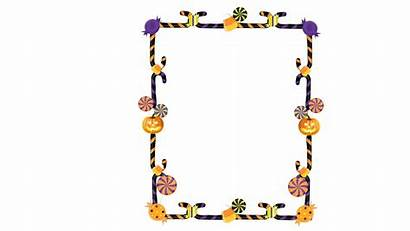 Halloween Transparent Frame Candy Clipart Border Clip