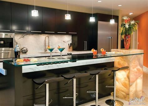 small kitchen bar design مطابخ فخمه بالون الاسود مطابخ ايكيا 2017 مطابخ سوداء 5411