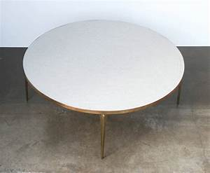round brass and white mosaic coffee table at 1stdibs With round mosaic coffee table