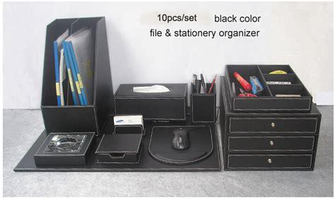 accessoire bureau luxe popular leather desk set buy cheap leather desk set lots