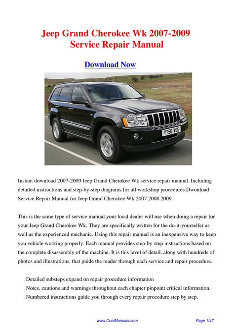 free service manuals online 2007 jeep grand cherokee free book repair manuals 2007 2009 jeep grand cherokee wk service repair manual by hong ling issuu
