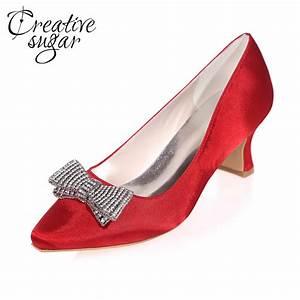 wedding dress shoes sparkling low heel promotion shop for With low heel dress shoes for wedding