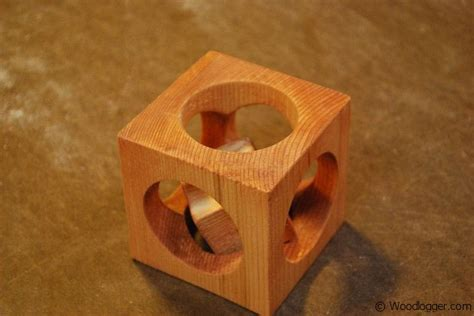 Cube in a Cube Wood Piece