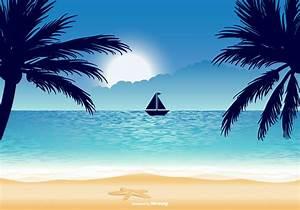 Beautiful Beach Illustration