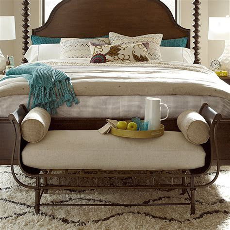 universal furniture cordevalle bed bench bedroom benches