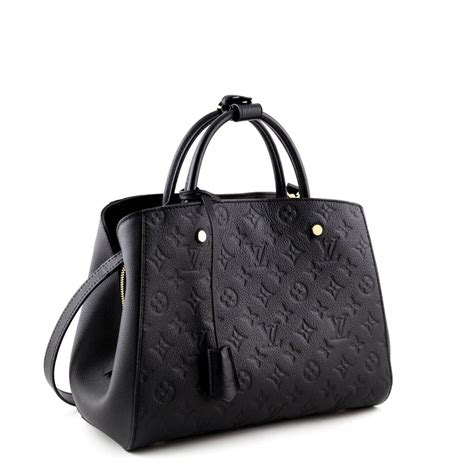 louis vuitton black monogram empreinte montaigne mm luxury bags