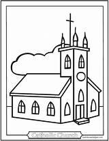Coloring Church Catholic Pages Sheet Kindergarten Easy Sheets Mass Children Print Simple Parts Colouring Printable Churches Saintanneshelper Roman Symbols Clipart sketch template