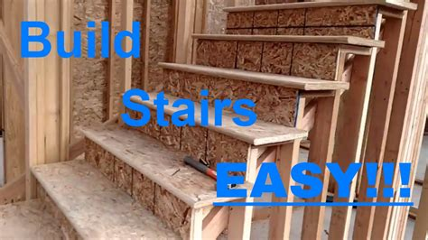 Building Stairs Made Easy! Framing, Rough Carpentry  Youtube