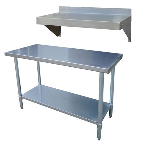 kitchen utility table sportsman stainless steel kitchen utility table with work