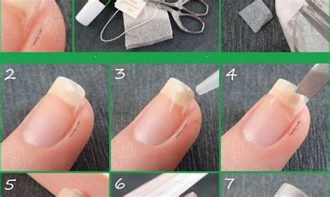 tea bag nail repair tutorial beauty lovers health