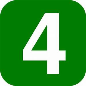 Green Number 4 Clip Art At Vector Clip Art