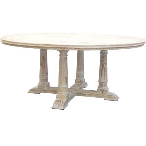 victoria reclaimed wood round dining table ebay