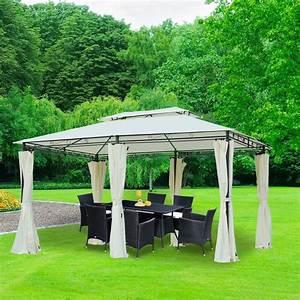 Pavillon 3x3 Holz : outsunny pavillon gartenpavillon partyzelt real ~ Buech-reservation.com Haus und Dekorationen