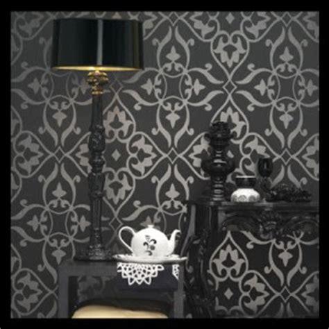 dramatic metallic  gothic wallpaper  home