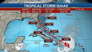 Isaias Could Impact Florida By The Weekend