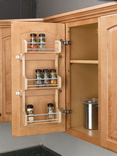 kitchen spice storage ideas create easy access for cooking with a door mount spice 6114