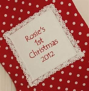 U0026, 39, Baby, U0026, 39, S, 1st, Christmas, U0026, 39, Stocking, By, Tuppenny, House, Designs
