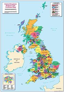 Children U0026 39 S United Kingdom Counties And Regions Map