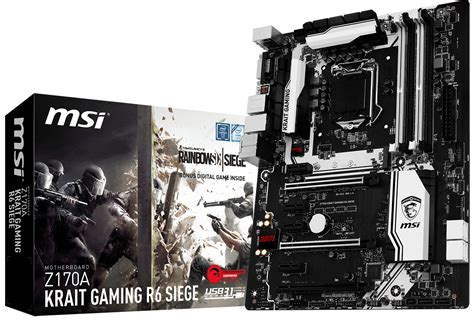 siege logitech msi z170a krait gaming r6 siege motherboard made official
