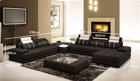 canapé d angle et noir deco in canape d angle cuir noir et blanc design