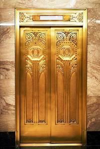 Gold, Elevator, Oviatt, Building, La
