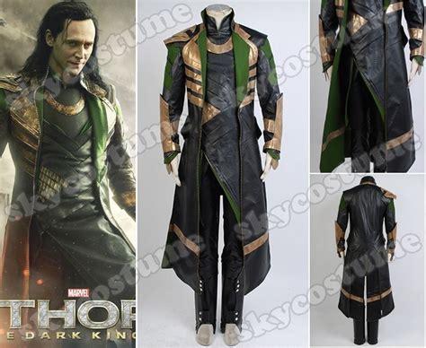 Thor The Dark World Loki Long Coat Whole Set Movie Cosplay