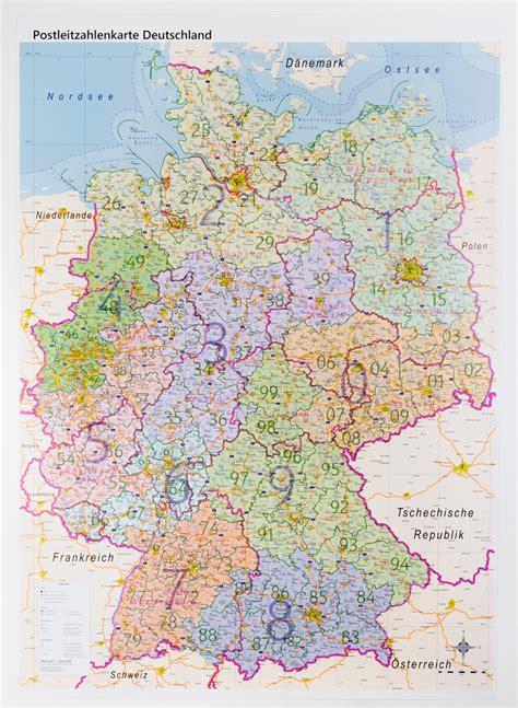 postleitzahlenkarte deutschland folienbeschichtet