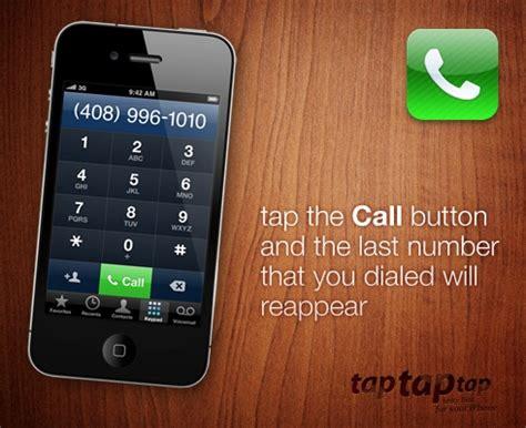 last call phone number tap tap tap 10 more useful iphone tips tricks