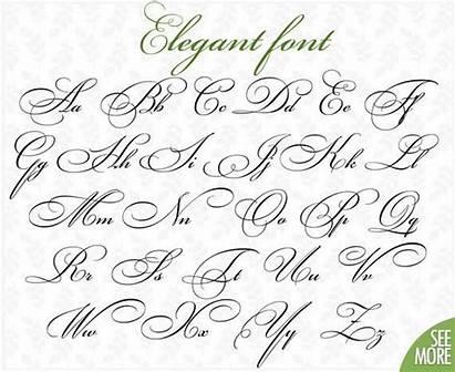 Cursive Font Coloring Svg Script Fancy Fonts