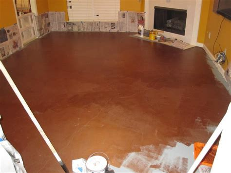 How To Paint A Cement Floor With Chic Painted Cement