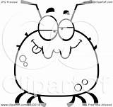 Tick Drunk Cartoon Sad Coloring Clipart Chubby Thoman Cory Outlined Vector Regarding Notes Clipartof Royalty sketch template