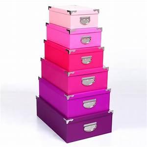 Boite Rangement Photo : set de 6 bo tes de rangement multicolore rose ~ Teatrodelosmanantiales.com Idées de Décoration