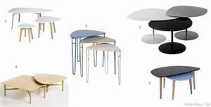 Table Basse Ronde Gigogne : table basse gigogne pin mobilier design d coration d 39 int rieur ~ Teatrodelosmanantiales.com Idées de Décoration