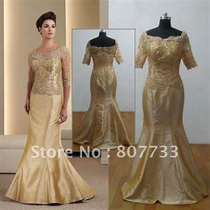 gold wedding dresses for mature brides parents 50th With golden wedding anniversary dresses