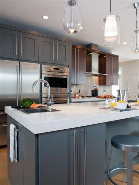 L Shaped Kitchen Island Ideas - mid century modern kitchen design elafini com
