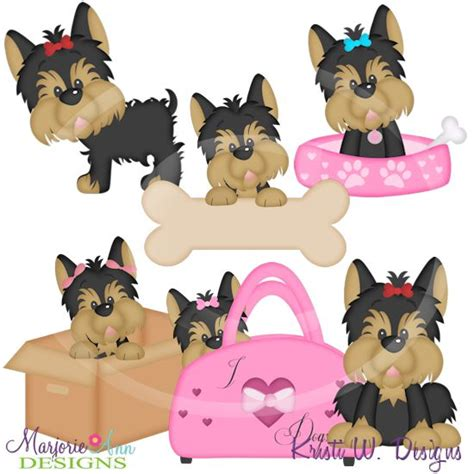 cute yorkie silhouette  eyes clipart clipground