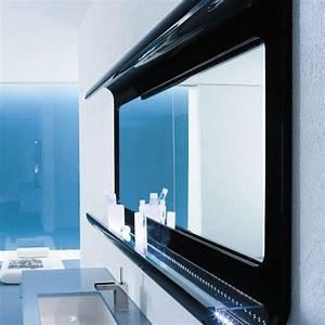 miroir salle de bain lumineux en 55 designs super modernes With carrelage adhesif salle de bain avec eclairage neon led