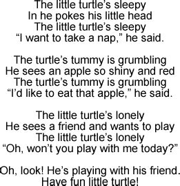 Five volunteers from the coolum and north shore coast care group in. Little Turtle: Song Lyrics and Sound Clip