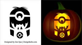 Minion Pumpkin Carving Easy by 5 Free Halloween Minion Pumpkin Carving Stencils Patterns