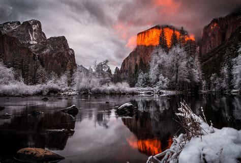 Landscape Snow Yosemite National Park Wallpapers Hd